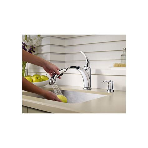 pfister selia kitchen faucet pfister f 534 p selia 1 handle pull out kitchen faucet