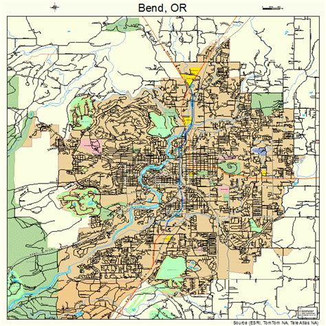 map of oregon bend bend oregon map 4105800