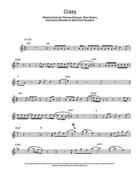 Partition piano crazy gnarls barkley