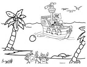 Sunken Ship Coloring Page Pages sketch template