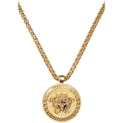 versace gold medusa medallion necklace versace