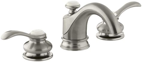 kohler fairfax bathroom faucet kohler k 12265 4 bn brushed nickel fairfax widespread