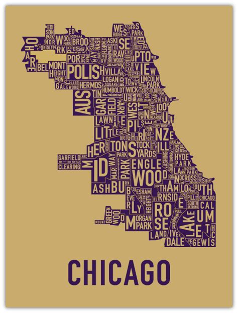 chicago map print affordable wall illustrated maps pillows and peonies