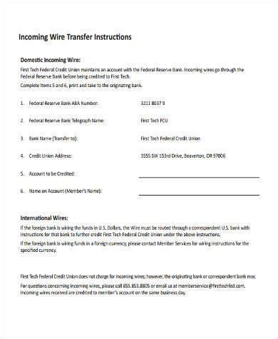 Wire Transfer Form Template by Wire Transfer Form Sles 7 Free Documents In Word Pdf