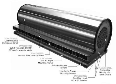 stainless steel air curtain commercial and industrial air curtains