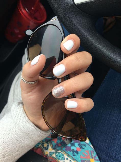 white gel nails ideas  pinterest summer gel
