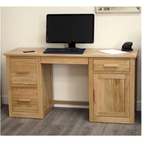 solid oak desks for home office arden solid oak home office furniture large computer pc