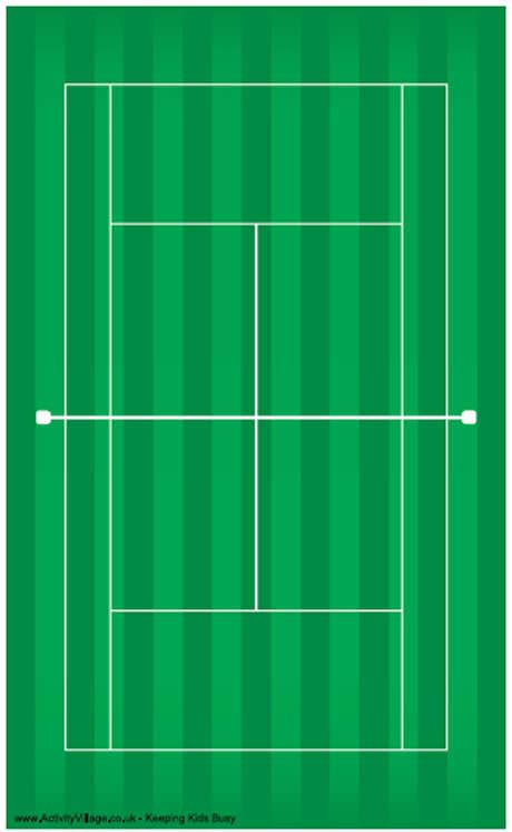 tennis court printable