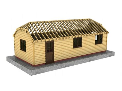 Half Hip Roof 3 Bay Workshop With Half Hipped Roof