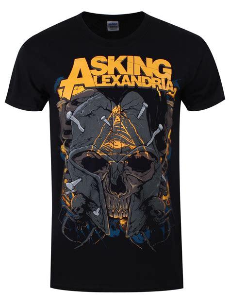 Asking Alexandria Skull asking alexandria skull s black t shirt buy