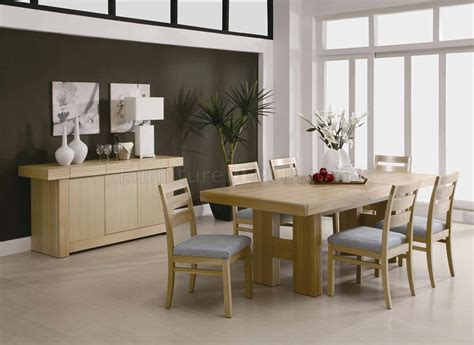light ash finish modern dining room set w options