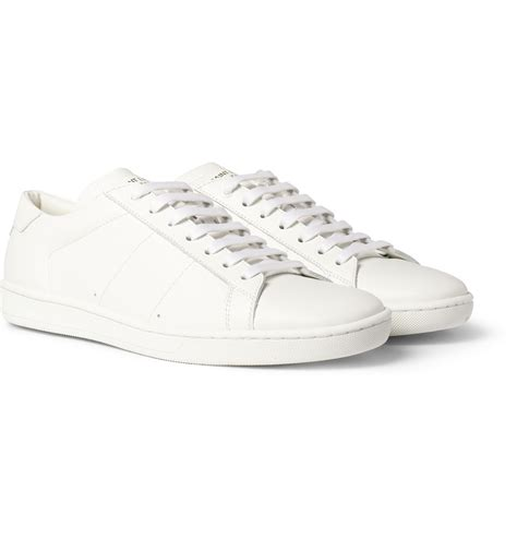 white sneakers laurent leather sneakers in white for lyst