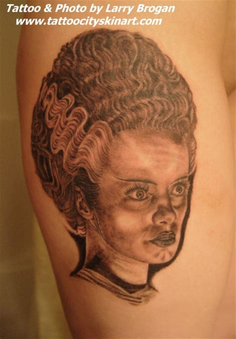 bride of frankenstein tattoo designs of frankenstein by larry brogan tattoos