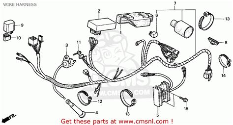 honda xr250l 1994 r usa wire harness schematic partsfiche