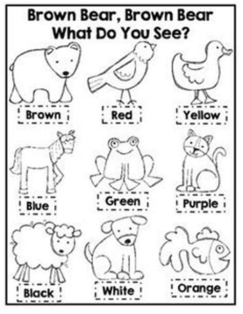 1000 Ideas About Preschool Worksheets On Pinterest Brown Brown What Do You See Coloring Pages