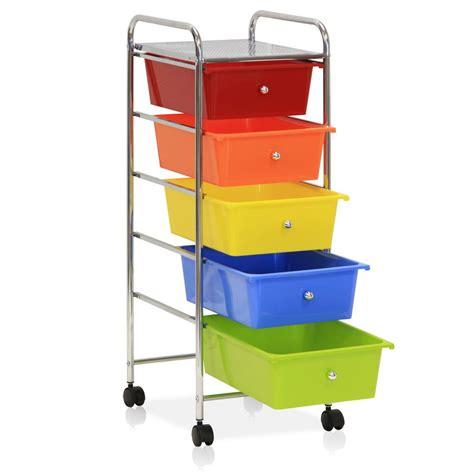 8 drawer rainbow cart furinno wayar 5 shelf chrome 4 wheeled 5 drawer trolley in