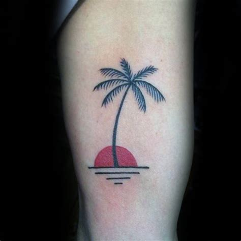 tiny palm tree tattoo 60 small tree tattoos for masculine design ideas
