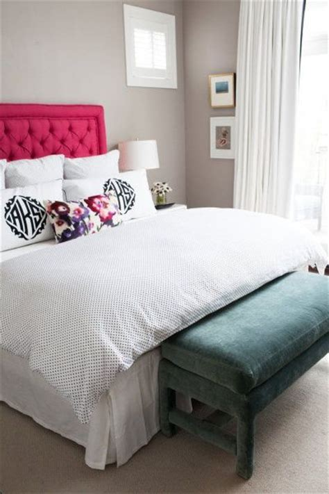 get a headboard my husband would never let me get away with a pink