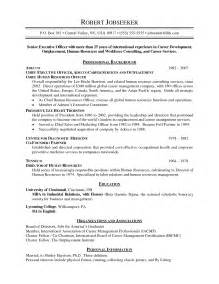 Exle Of Chronological Resume by Chronological Resume Exle Out Of Darkness