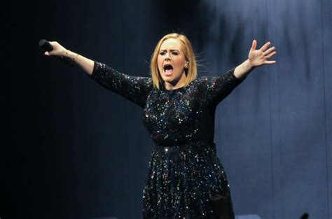 hillary clinton attends adele concert gets best adele used miami concert to blast donald trump in front of