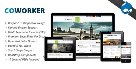 drupal theme user menu coworker responsive drupal theme by tabvn themeforest