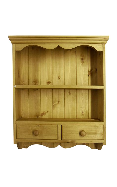 wall drawers unit country pine wall shelf unit