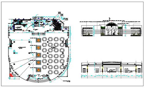 cafe layout dwg interior floor plan of a cafe dwg file