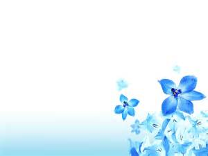 Flowers Powerpoint Template by Powerpoint Background Flower Blue Clipartsgram