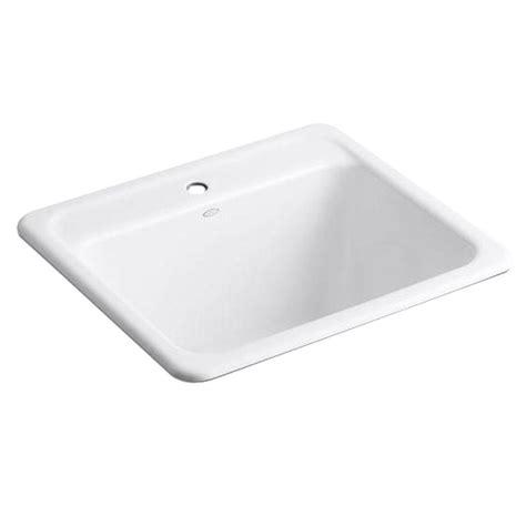 kohler glen falls sink kohler glen falls top mount utility sink with single