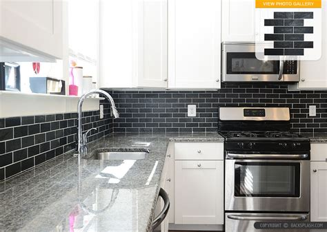 Black Slate Backsplash Tile New Caledonia Granite Black Kitchen Backsplash