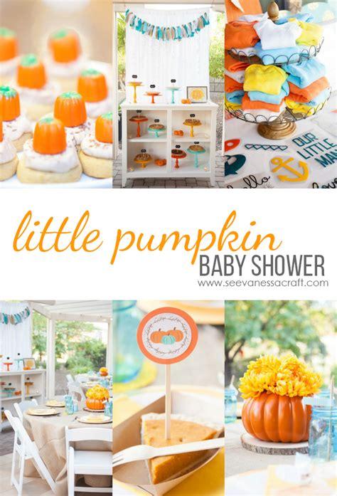 party  pumpkin baby shower  vanessa craft