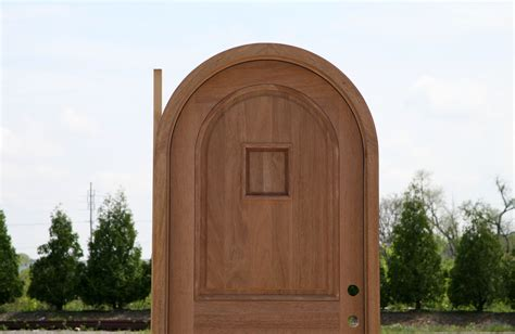 Arched Doors Exterior Arched Single Entry Door Solid Mahogany
