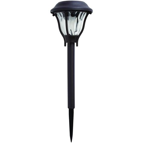 Solar Outdoor Lights Home Depot Hton Bay Solar Bronze Outdoor Integrated Led Landscape Path Light With Water Patterned Lens