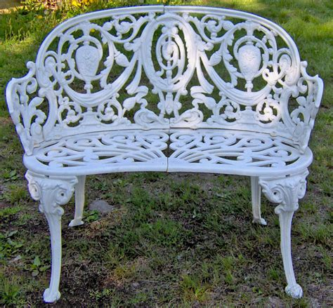 antique iron bench antique cast iron garden bench in the adamesque style c item small garden bench