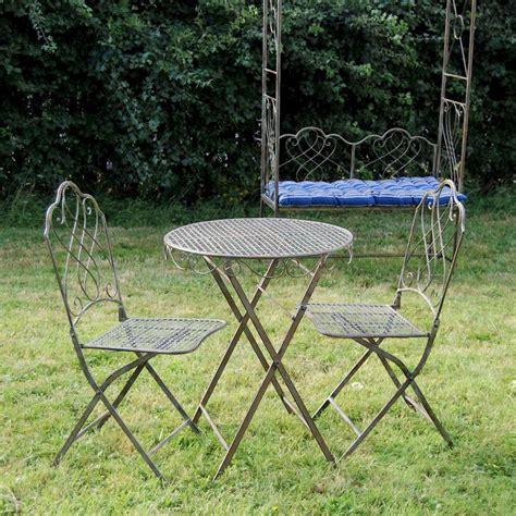 Steel Bistro Chairs Antique Or Bistro Set Garden Furniture Set Patio Bistro Steel Garden Table Ebay