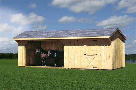 horse barns run  sheds