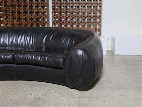 Curved Leather Sofas For Sale Curved Leather Sofa By Directional For Sale At 1stdibs