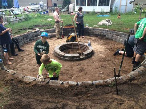 sunken backyard fire pit best 25 sunken fire pits ideas on pinterest in ground
