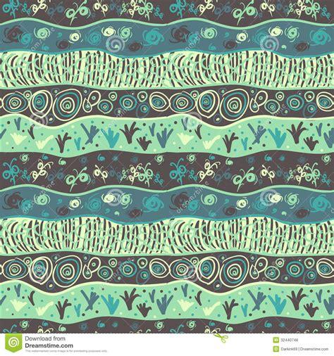 Muster Zeichnen Nahtloses Muster Mit Dem Zeichnen Abstrakten Wellen Gras Lizenzfreie Stockfotos Bild