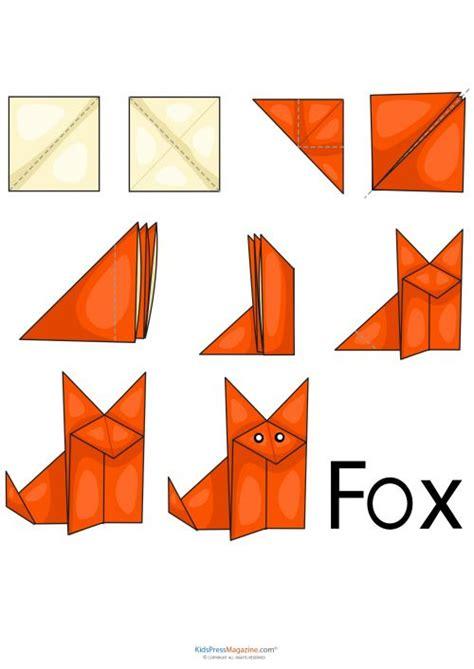 origami fox diagram 17 beste afbeeldingen origami tiere op