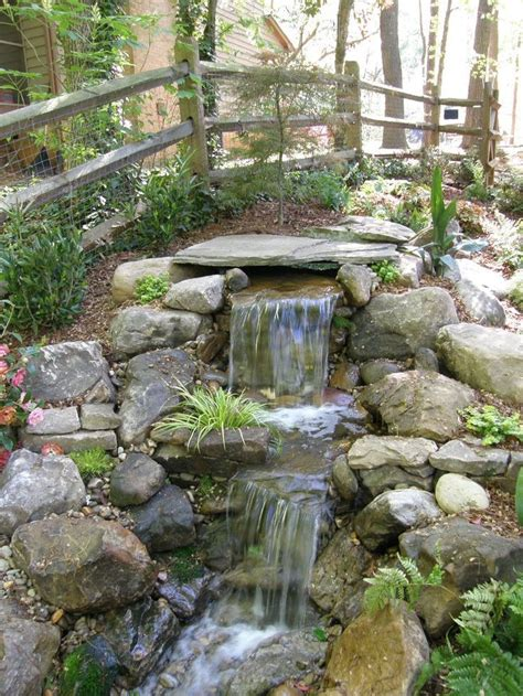 Waterfalls Backyard by Best 20 Garden Waterfall Ideas On Diy