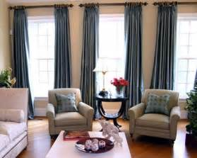 Living Room Curtains For Three Window Curtains And Chairs For The Casa