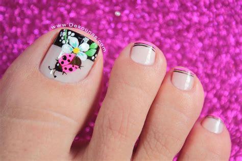 Imagenes Uñas Pintadas De Los Pies | dise 241 o de u 241 as pies mariquita y flores deko u 209 as moda