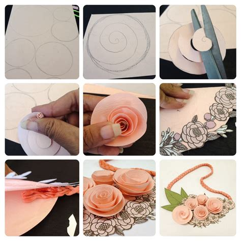 cara membuat bunga kertas diy diy cara membuat kalung mawar dari kertas cewekbanget id