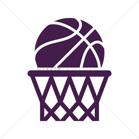 Basketball Clipart Vector Basketball Hoop Vector Image 1978487 Stockunlimited
