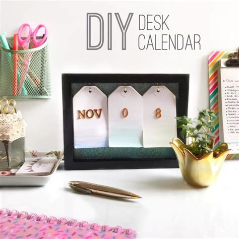 How To Make Your Own Desk Calendar by That S So Gemma