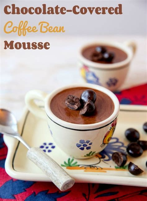 chocolate covered coffee bean mousse coffee
