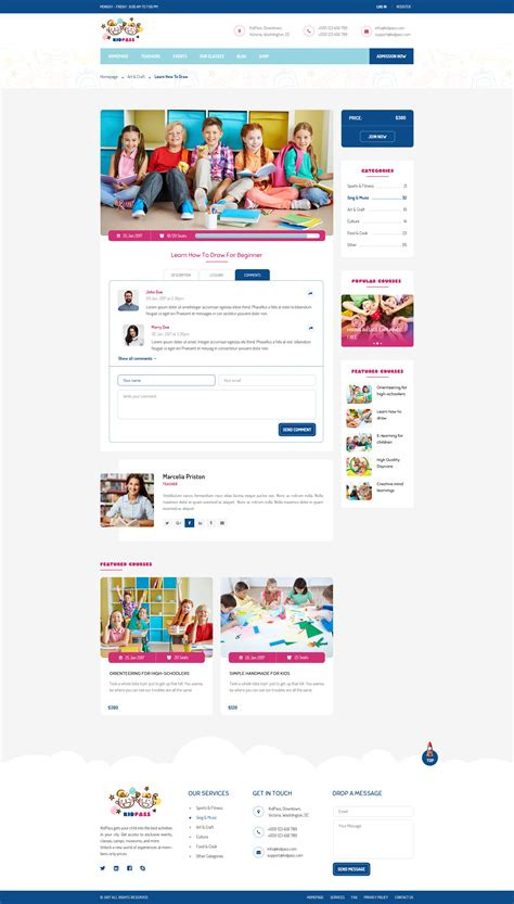 education psd templates kidpass education psd template by pixartthemes themeforest