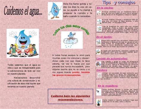 cripticos sobre el cuidado del agua tr 237 ptico de difusi 243 n el cuidado del agua