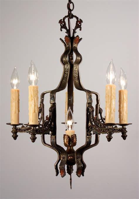 Antique Cast Iron Chandelier Amazing Antique Revival Six Light Chandelier In Cast Iron Nc975 For Sale Antiques